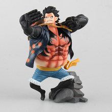 One Piece Monkey.D.Luffy Gear Fourth Busoshoku Haki Anime PVC Figure Collectible Model Toy 18cm(China)