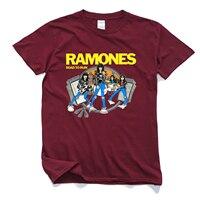 Men S Ramones New Fashion 2017 Brand Custom Print Slim Fit T Shirt O Neck Top