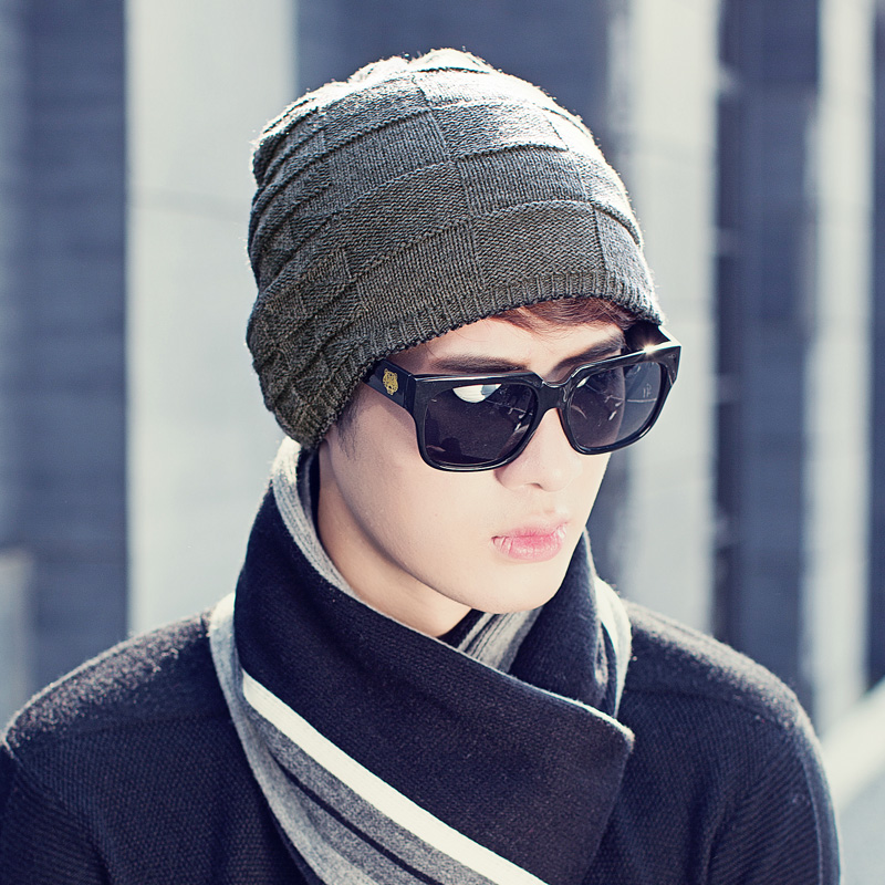 Hat man han edition of outdoor warm knit cap of autumn winter and wool hat cap