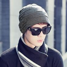 Шляпа человек хан издание открытый теплый вязаная шапка осень зима и шерсть hat cap