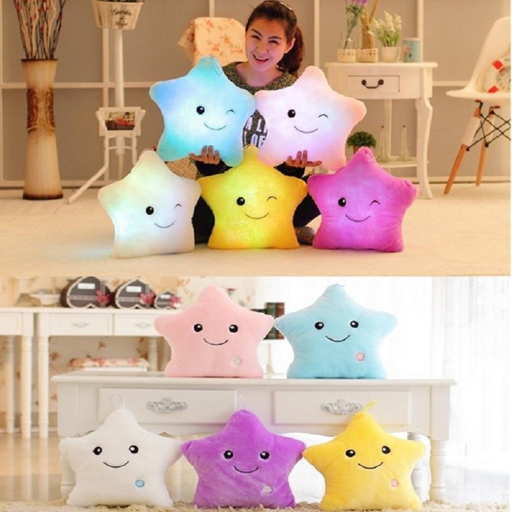 Animal Pillow That Lights Up : Luminous pillow Christmas Toys, Led Light Pillow,plush Pillow, Hot Colorful Stars,kids Toys ...