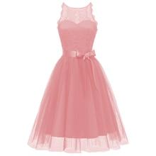 Dressv pink cocktail dress cheap scoop neck sleeveless lace graduation party sashes fashion dresses