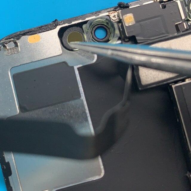 100 pçs/saco adesivos de indução para o telefone x xs max buraco esponja junta adesivo substituição reparo do telefone móvel
