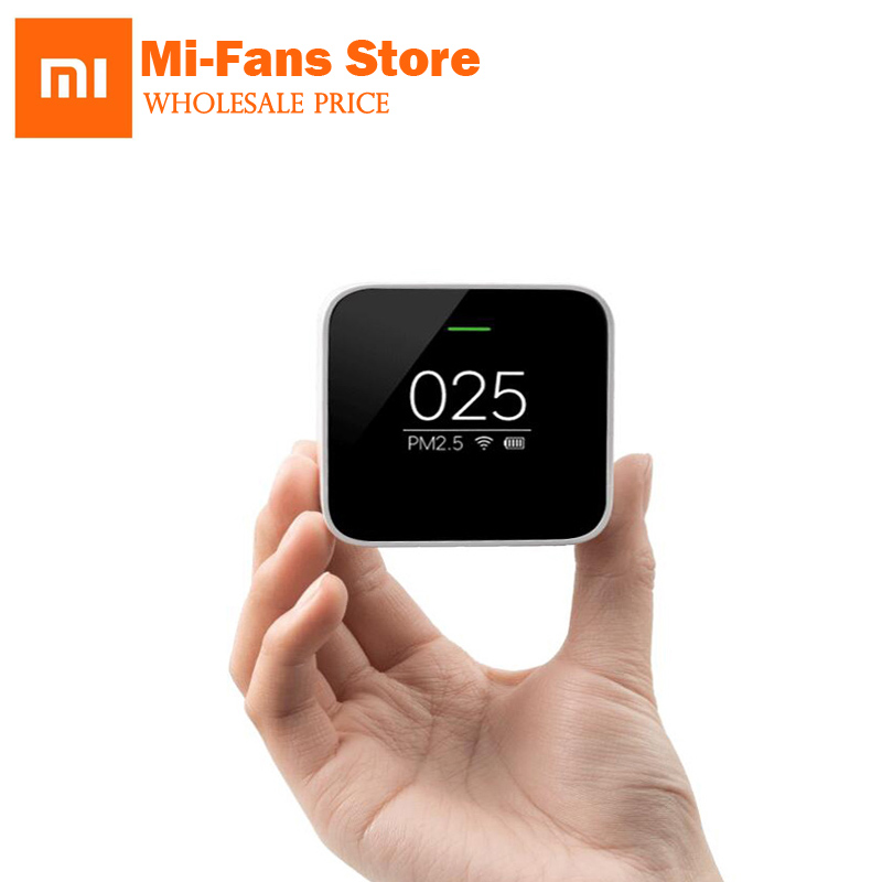 Original Xiaomi Smart PM2.5 Air Detector Portable OLED screen 2.4GHZ Use Wifi With Air Purifier Air Quality Monitoring