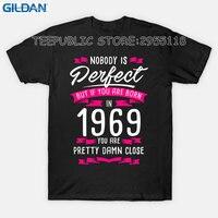 Gildan Create T Shirt Online 1969 Pretty Damn Close Perfect Birthyear Gift Short Men Crew Neck