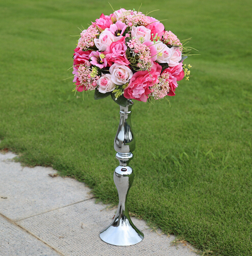 Aliexpress Buy 10pcslot 47cm Tall Silver Flower Vase With