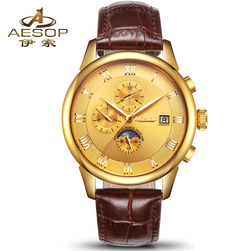 AESOP Fashion Watch Men Brand Automatic Mechanical Wrist Stainless Steel Wristwatch Male Clock Relogio Masculino Hodinky видеорегистратор dahua dvr hdcvi dhi hcvr7208an 4m