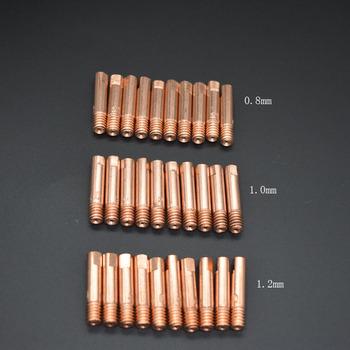 10 sztuk zestaw wskazówka dysza gazowa MB-15AK M6 * 25mm palnika do spawania skontaktuj się z końcówki dysza gazowa 0 8 1 0 1 2mm tanie i dobre opinie BongKim other Soldering Supplies