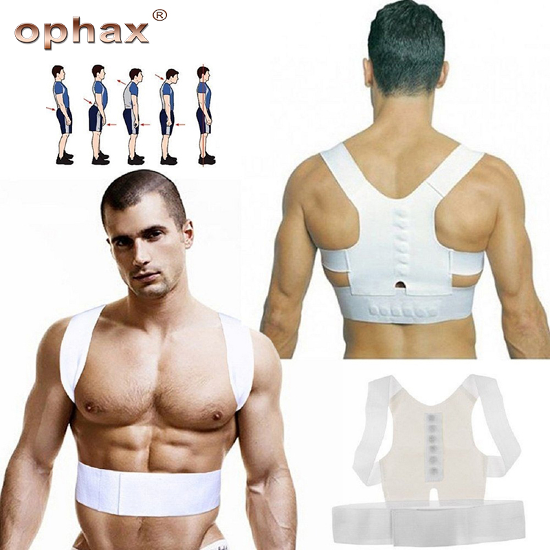OPHAX Magnetic Therapy Posture Corrector Lumbar Brace Shoulder Back Support Belt Orthosis Corset Back Brace Posture Correction