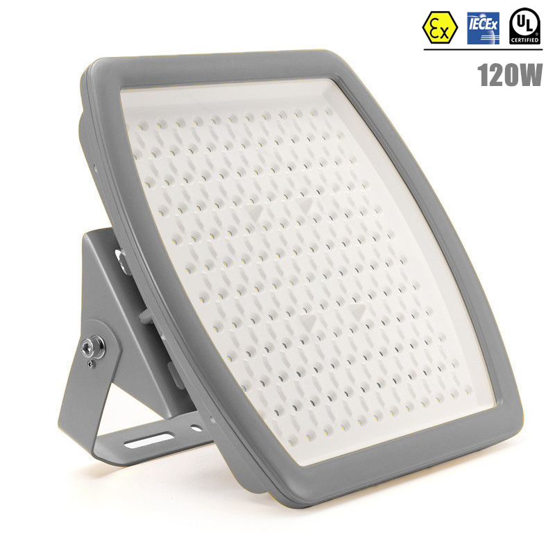 ATEX UL IECEx Certified 120w Explosion Proof LED Light Class 1 Division 2 AC110V 220V 240V UL DLC 120W LED Explosion Proof Light