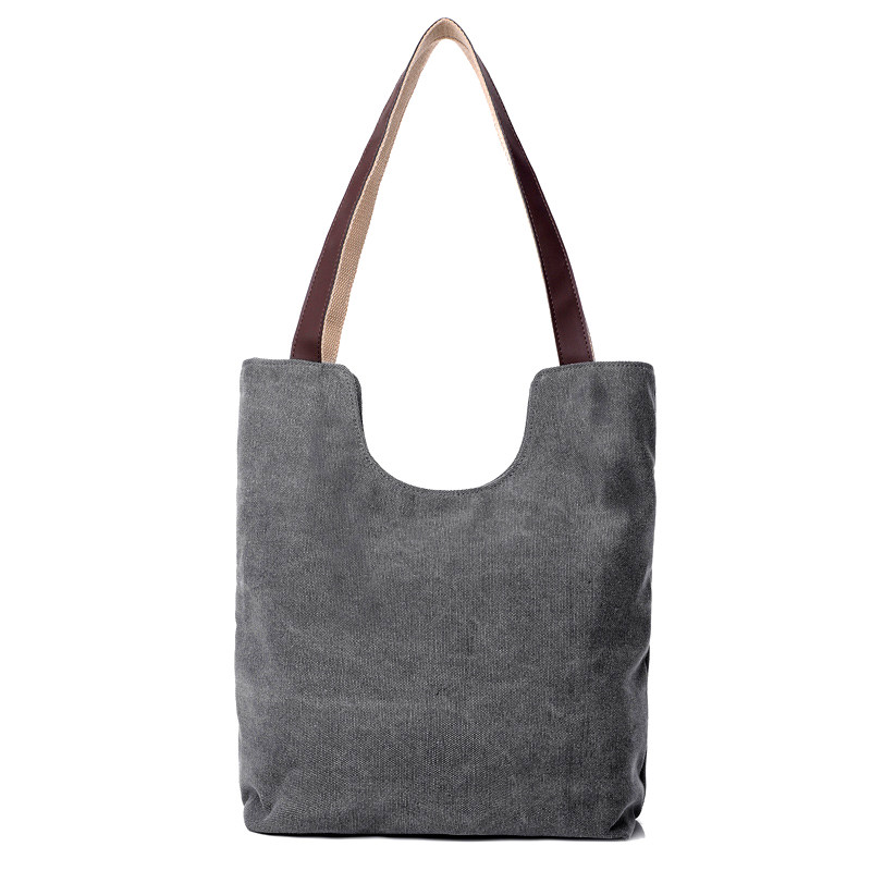 Korean Style Simple Ladies Tote Bag Durable Canvas Hand Bag Fashion Simple Hobo Bag Women Stylish