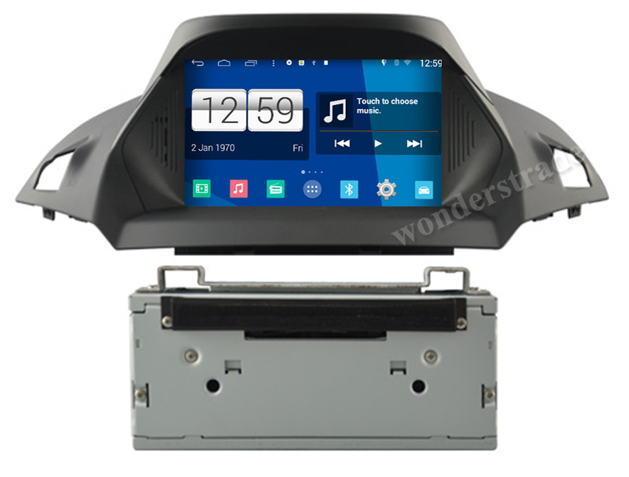 s160 android 4 4 car dvd autoradio stereo gps navigation radio for ford kuga escape 2013 2014. Black Bedroom Furniture Sets. Home Design Ideas
