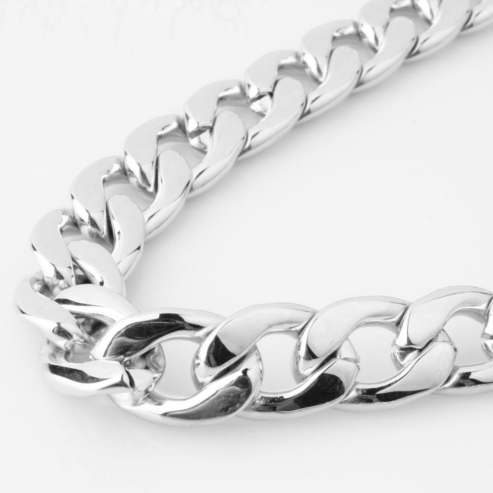 Heavy Huge Width 13/15/19mm Stainless Steel Figaro Chain High Quality Link Necklace Men Jewelry Wholesale