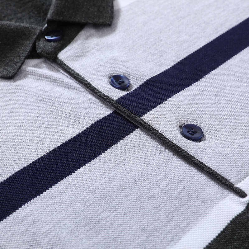 XXXL 夏メンズストライプコットンポロシャツブランドストレートトップス Tシャツ半袖シャツカジュアルコントラストカラーの男性服