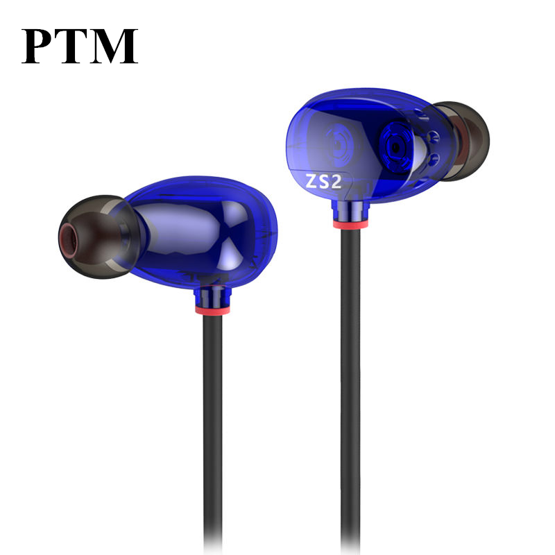 Original KZ ZS2 Earphone Headphone Special High Sound Quality Memory Wire Sport Headset with HD microphone for iPhone Phone MP3