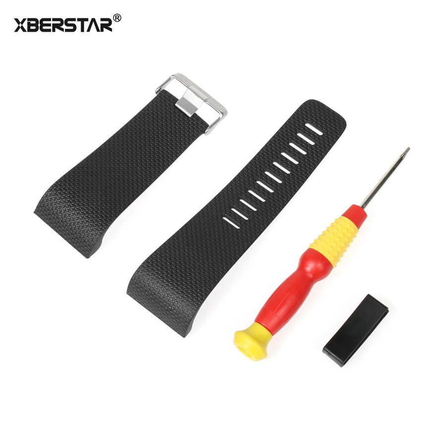 XBERSTAR Watch Bandf Watch Band for Fitbit Surge Activity Tracker Watchband Smart Watch Replacement TPU with Tools Metal Buckle