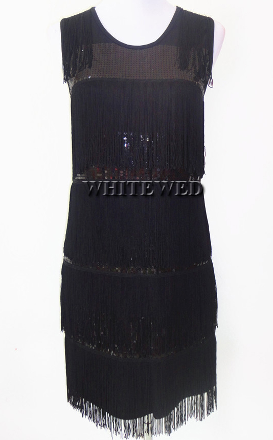 2015 New Tassel Fringe 1920s Fashion Flapper Inspired Cocktail Party Prom  Cocktail Dance Dresses Clothing Gowns for Women Gold Grey Cheap say itself! 266934bd597d
