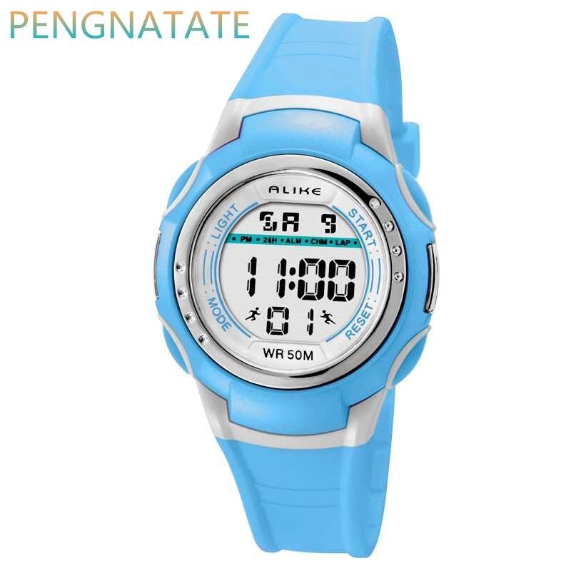 Лидирующий бренд так цифровые наручные часы для мальчиков и девочек часы водонепроницаемые Многофункциональный светодиодный электронные …