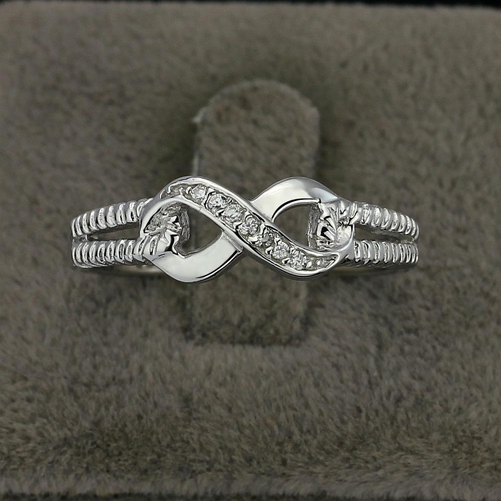 Eternity Ring Engagement Rings Sterling Silver 925 Rings կանանց - Նորաձև զարդեր - Լուսանկար 4