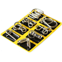 Montessori Materials 8PCS Set Metal Wire Puzzle IQ Mind Brain Teaser Puzzles Game For Adults And