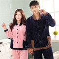 2017 couple pajamas Winter Autumn color flannel Home Furnishing lovers can wear Coral Fleece Pajamas female winter suit
