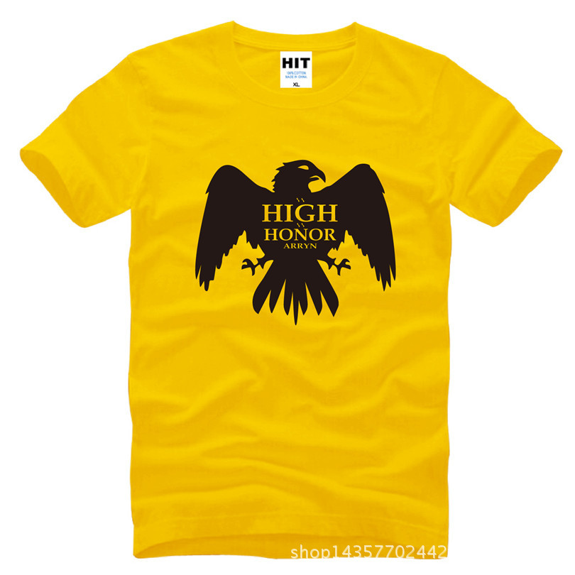 ARRYN As High as Honor Game of Thrones ASOIAF Printed Mens Men T Shirt T-shirt 2015 Cotton Tshirt Tee Camisetas Masculina