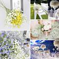 5 cachos Bonitos Flores Artificiais Plantas de Artes Céu Estrela Flor Decoração de Casamento Flores bouquets de Noiva s2