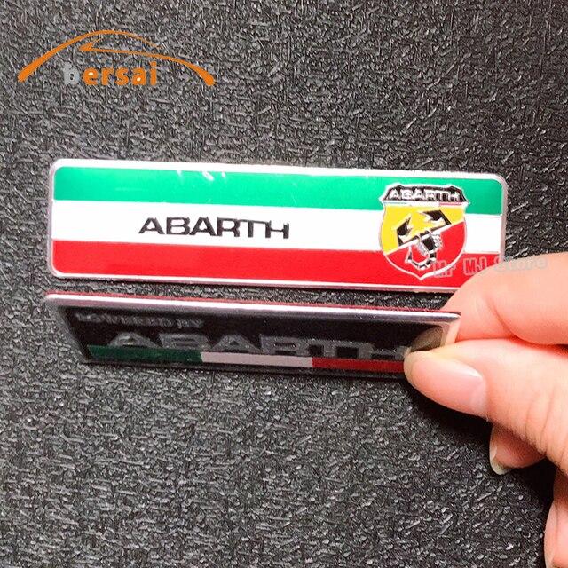 1-4 pièces voiture style ABARTH 3D emblème Badge 3M aluminium autocollants créatifs pour litalie Fiat Abarth Viaggio Punto 124 125 500 autocollants