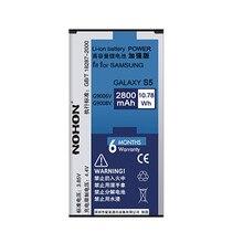 NOHON 2800 мАч Оригинальное Качество Аккумуляторы Для Samsung Galaxy S5 Батареи I9600 G900S G900F G900T G900P G900R4 G9008V