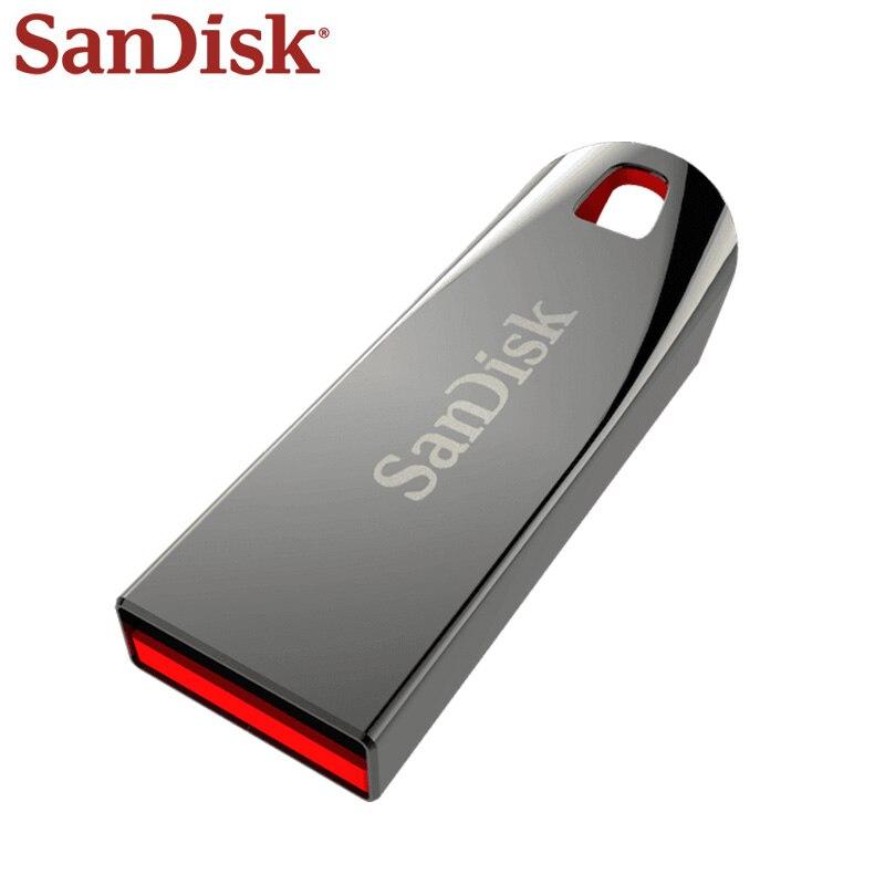 SanDisk USB Flash Drive 32GB 16GB USB 2.0 Mini Pen Drives 8GB 64GB PenDrives U Disk Memoria Usb For PC