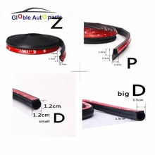 4 Meter D Z P U Adhesive Rubber Seal Sound Insulation Weatherstrip Edge Trim Noise Insulation Car Door Sealing Strip DB-004