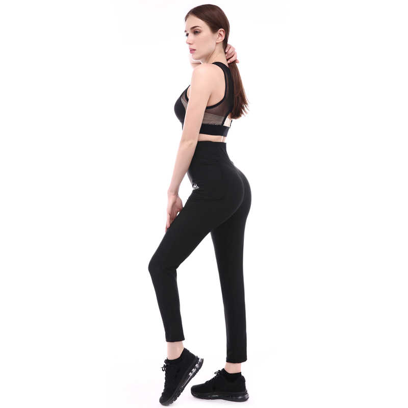 Women & men sport sweating pants waist hip shaper  running yoga fitness slimming  pants 4X large size fat burning #ST2147