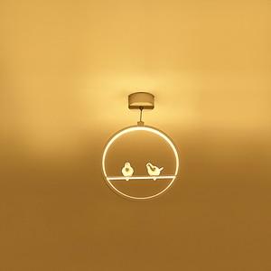 Image 4 - White/Black Pendant Lights Indoor Balcony Loft Home Hanging Lighting Modern Kitchen Parlor Art Birds LED Pendant Lamps