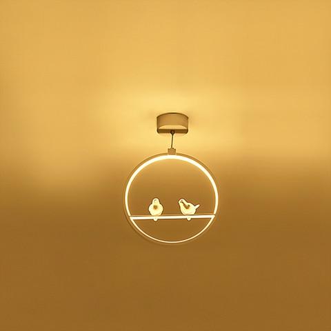 arte aves led pingente lampadas