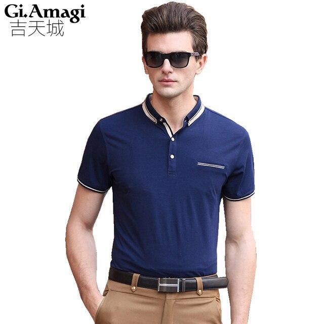 2016 New Men's Brand Polo Shirt High Quality Designer Cotton Short Sleeve Tops polo homme