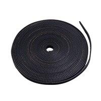 1Pcs Black GT2 6mm Width 2GT Rubber Transmission Timing Belt For 3D Printer Length=50m Meter
