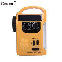 AM/FM Radio Wind Up Solar Rechargeable Emergency LED Flashlight Light Charger