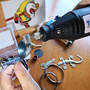 Image 5 - 220V 130W Electric Mini Drill Set Rotary Tool & Flexible Shaft 140pcs Abrasive Bit Accessories Dremel Style Engraving Polishing