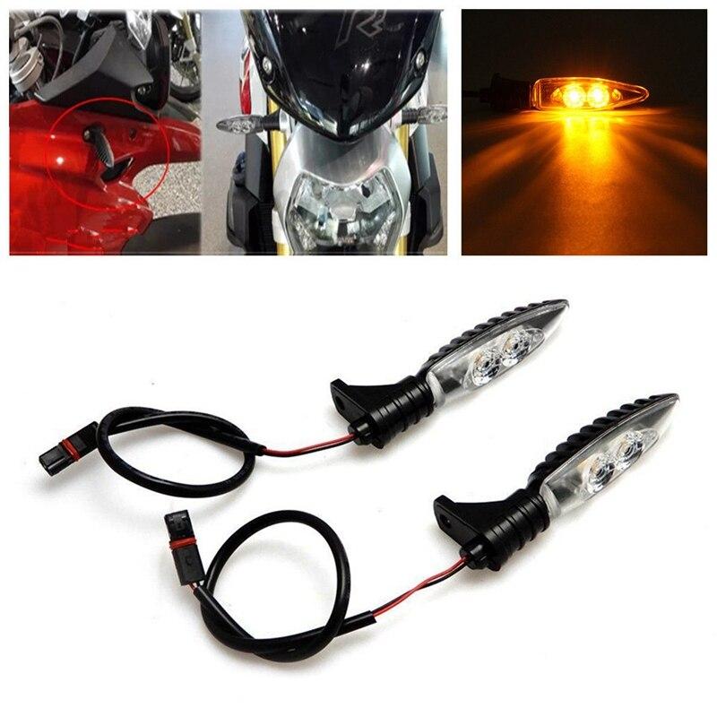 Undoeve 2pcs 12V Yellow Front Rear LED Turn Signal Indicator Lights For BMW S1000RR R1200GS HP4 F800GS R1200R s1000rr turn led lights