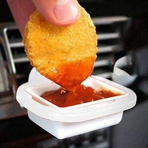 Image 2 - Kongyide 2019 NEUE heiße verkauf Auto Fastener & Clip Saucem Dip Clip In auto Sauce Halter für Ketchup Tauch saucen 2019 Neue 9611