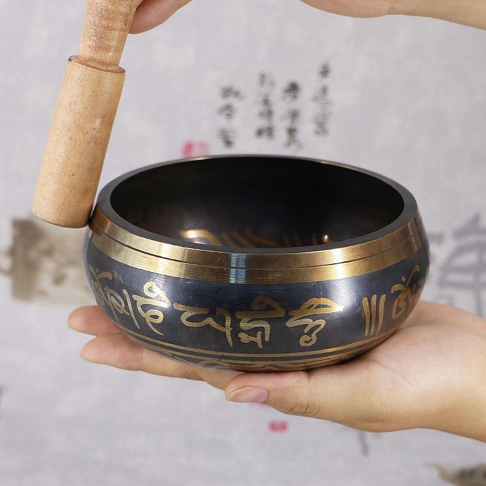3 Sizes Hand Bowl Decorative Chakra Meditation Wall Dishes Yoga Tibetan Buddhist Brass Singing Bowl
