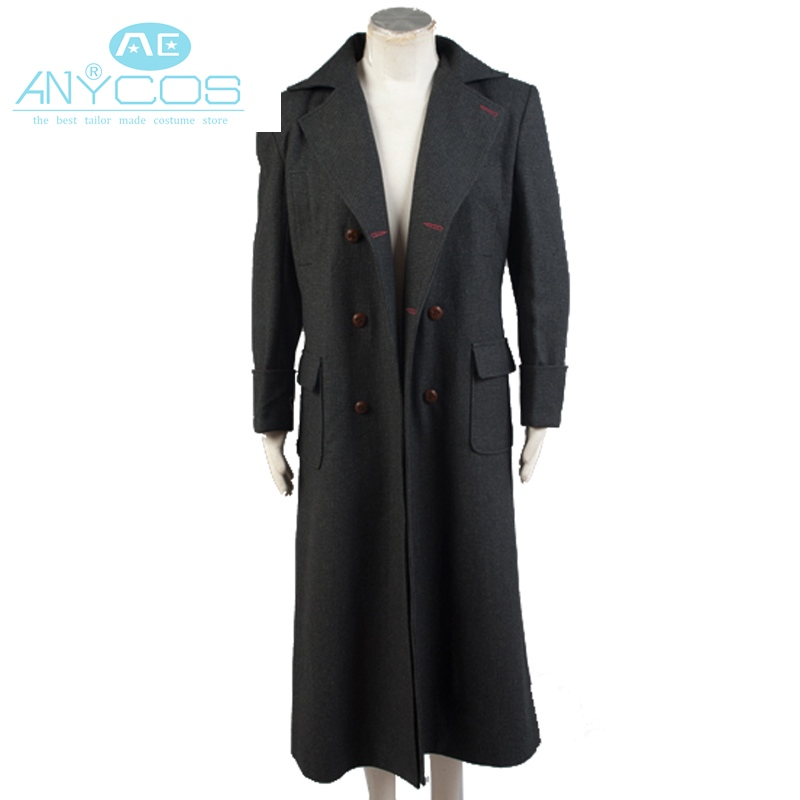 Original Sherlock Holmes Uniform Winter Warm Long Wool Cape Coat For Men Cosplay Costume For Halloween Party