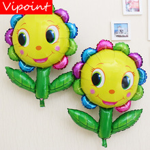 VIPOINT PARTY 42x28cm sunflower sun foil balloons wedding event christmas halloween festival birthday party HY-63