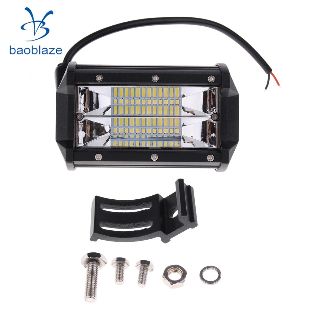 Car Boat LED Light Bar Vehicle Searchlight Spotlight 10800LM 72W 6000K 36w 2520lm 6000k 12 epistar led waterproof spotlight working lamp bar for car boat black