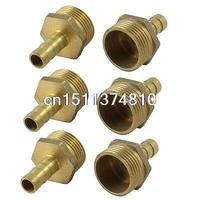 6 Pcs 3 4 PT Male Thread To 10mm Hose Barb Air Gas Pipe Quick Coupler