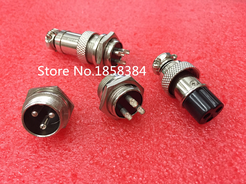 50Pair 100Pcs GX16 GX16 3 3P 3Pin 16mm Male Female Wire Panel Connector Circular Aviation Connector