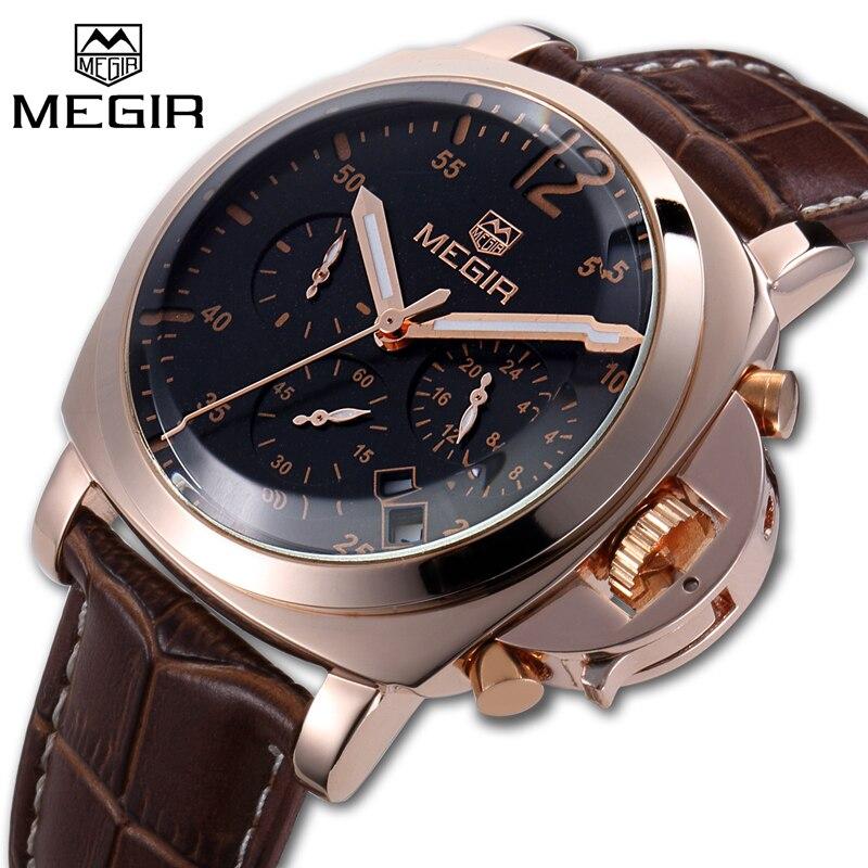 ea37213b8c8 2018 MEGIR Top Luxury Brand Men Watches Man Fashion Sport Chronograph Watch  Male Casual Waterproof Wristwatch