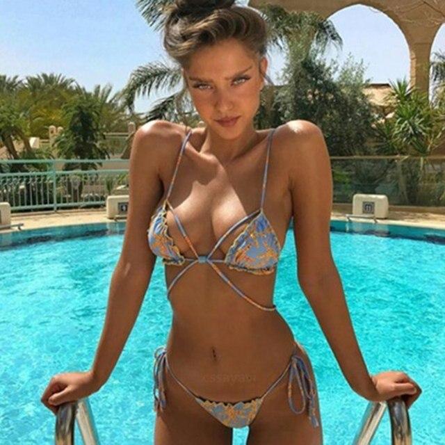 Fille Sexy En Maillot 2017 sexy maillots de bain bikini set femmes triangle maillot de