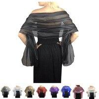 Элегантные Свадебные серебряные шали палантины шелковые шарфы для женщин накидка для вечернего платья вечерние обертывания Бесплатная до...
