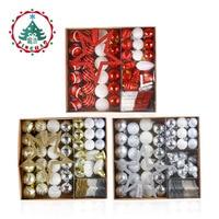 inhoo 80pcs/set Christmas Tree Ball Ornaments Gift Polystyrene Balls Xmas Party Hanging Ball Merry Christmas Decor for Home 2019